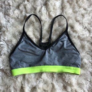 Nike Grey/Neon Light Support Sports Bra